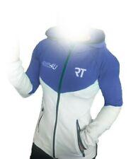 RT Pro Wear Ladies Hoodies Womens Sports Full Zip Hooded Jacket White/Blue