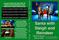 VIRTUAL Santa Sleigh and Reindeer, Santa Flying in Sleigh  DVD,  by Jon Hyers