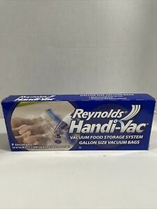 1 Box Reynolds Handi-Vac Vacuum Storage Bags 14, Quart Size Bags; DISCONTINUED
