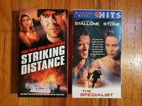 (Lot2) Striking Distance 93 The Specialist 94 VHS RARE ORIGINAL HTF OOP Action