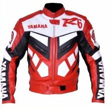 YAMAHA R6 MOTORBIKE  LEATHER JACKET CE APPROVED