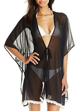 Jessica Simpson Women's Crochet Trim Kimono Swimsuit Cover Up , Size M, MSRP $76
