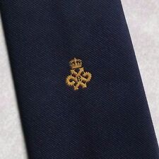 QUEEN'S AWARD EXPORT TIE VINTAGE RETRO CREST 1970s 1980s ASSOCIATION CLUB TOOTAL