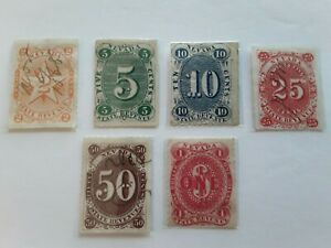 Nevada Revenue Stamp Set 2cnt to $1 Mint & Used Hinged OG a Very Nice Ser