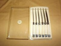 VINTAGE KITCHEN 6 OXHEAD STAINLESS KNIVES IN CASE