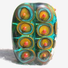 ISLAMORADA Handmade Art Glass Focal Bead Flaming Fools Lampwork Art Glass SRA