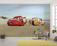 """Disney Wallpaper mural for children/'s bedroom /""""Cars race/"""" Red photo wallpaper"""