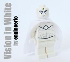 LEGO Custom -- Vision in White -- Marvel super heroes minifigures
