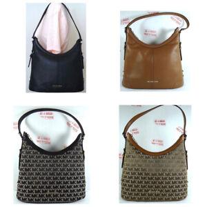 Michael Kors Ginger Belt MK Signature Jacquard Leather Hobo Shoulder Bag