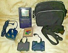 Game Boy Color Bundle Console Bag Battery packs Power cable Game Bag