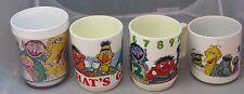 Vintage 1970s-80s Sesame Street Mugs - 4 designs