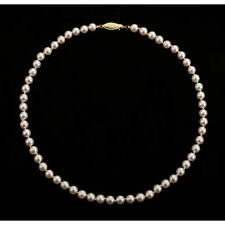 Japanese Salt Water Cultured White-Pink Rosé Pearl Necklace 6 2/3 - 7 mm, 18""