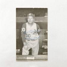 Ed Lopat Signed J.D. McCarthy Postcard A's Auto