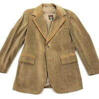 VTG Europe Craft Men's Thick Corduroy 2-Button Jacket Suede Tan Brown • 40 R