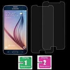 3x Samsung Galaxy S6 Schutzfolie Schutzglas 9H Echtglas Panzerfolie Displayfolie