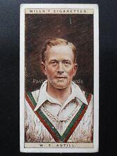 No.1 W.E. ASTILL - LEIC - Cricketers by W.D. & H.O. Wills Ltd 1928
