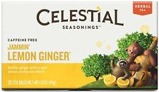 Jammin' Lemon Ginger Herbal Tea, Celestial Seasonings, 6 Boxes