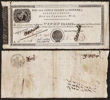 Assignat BON POUR 20 FRANCS AN 12 - FRANCE - ROUEN [ANNULé]