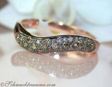 Reinheit VS Echte Diamanten-Ringe aus Rotgold mit Brilliantschliff