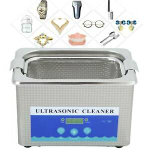 800ML Stainless Ultrasonic Cleaner Ultra Sonic Bath Cleaning Timer Tank Heat