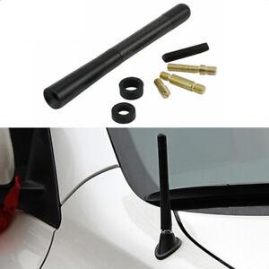 Black Carbon Fiber Screw Aluminum Car Radio AM/FM Aerial Antenna Universal