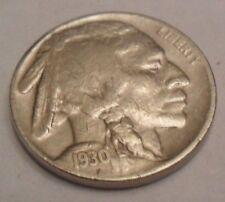 "1930 S INDIAN HEAD ""BUFFALO"" NICKEL  **FREE SHIPPING**"