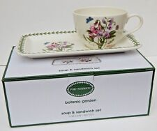 PORTMEIRION BOTANIC GARDEN SOUP & SANDWICH SET NEW AUTHENTIC