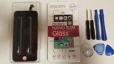 DISPLAY LCD APPLE IPHONE 6 NERO + PELLICOLA CON KIT ATTREZZI SCHERMO AAA+