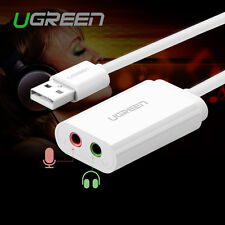 UGREEN USB 2.0 External Stereo Audio Sound Card Adapter For Windows Mac Linux
