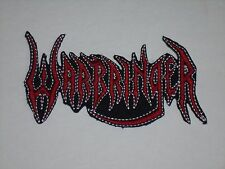 WARBRINGER THRASH METAL IRON ON EMBROIDERED PATCH