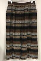 Vtg Jaeger Women 10 MEDIUM Skirt Wool Alpaca Woven Fall Stripe Long
