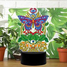 Butterfly 5D Diamond Mosaic Lamp Night Light 7 Colors Home Desk Night Lamp Decor