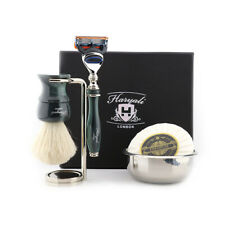 HARYALI Shaving Brush Five Edge Razor Stand Bowl and Soap 5 Pieces Kit for Men
