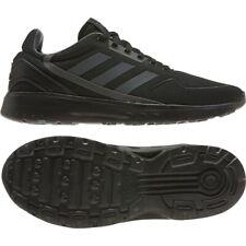 Para Hombre Adidas nebzed Negro Correr Tenis Calzado Atlético de moda Tamaños 8-13 EG3702