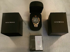 *NEW* MENS EMPORIO ARMANI AR 5857 GOLD  WATCH , RRP £399.00