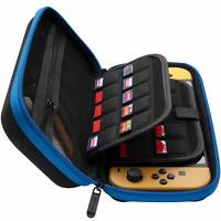 ButterFox Nintendo Switch Hard Carrying Case with 19 Game Holders - Blue/Black