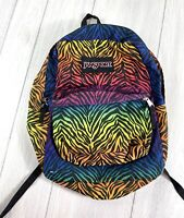 Vintage Jansport Backpack Rainbow Zebra Pattern