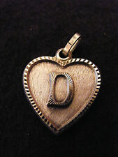 Colgante Corazón Medallón en PLATA Chapado Letra D 2 cm