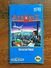 Aerobiz Aero Biz Sega Genesis Game Instruction Manual Only