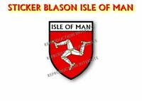Sticker blason ISLE OF MAN  STICKER 120x95mm AUTOCOLLANT STICKERS MOTO MOTO