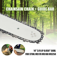 14'' Chainsaw Guide Bar And 3/8 LP 50DL Saw Chain For STIHL MS170 MS180 MS250