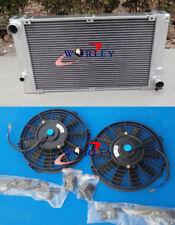 Aluminum radiator +FANS fit PORSCHE 944 2.5L TURBO / S2 3.0L 1986-1991 manual 89