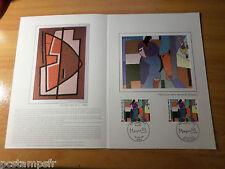 FRANCE Document CERES 1° jour timbre 2414 VARIETE TABLEAU MAGNELLI, FDC PAINTING