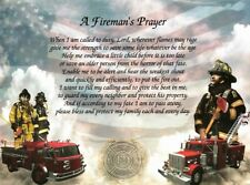 """Gift for Firefighter  """"A Fireman's Prayer"""" Poem for Father/Dad, Husband, Son"""