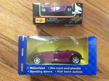 "NEW LOT OF 2 MAISTO PURPLE ""PLYMOUTH PROWLERS"" (1:46 AND 1:38) DIE-CAST-PLASTIC"