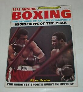 1972 BOXING ANNUAL MAGAZINE MUHAMMAD ALI vs JOE FRAZIER HIGHLIGHTS of the YEAR