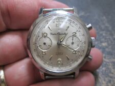 PIERRE CHEVELLE 17 J ORIGINAL DIAL Chronograph  Stainless Running Mens Watch