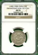 CHINA  1890-08  KWANGTUNG       20 CENTS   NGC AU 55    Y 201    LM 135
