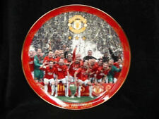 LARGE MANCHESTER UNITED PLATE MOSCOW 2008 DANBURY MINT 12 INCH DIAMETER