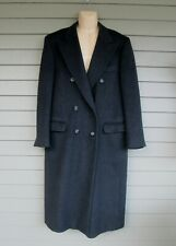 Egon Von Furstenberg Charcoal Cashmere Blend Double Breasted Winter Overcoat 40